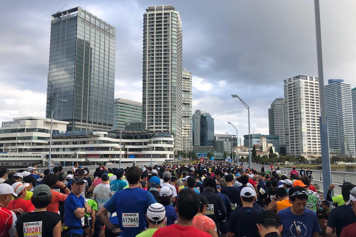 横浜マラソンのスタート地点