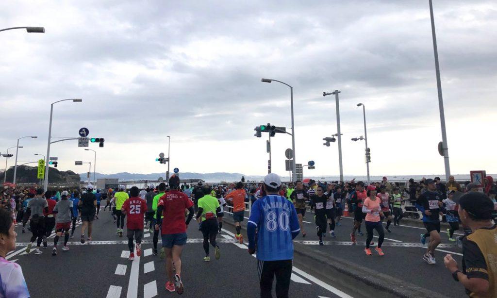 湘南国際マラソン折り返し