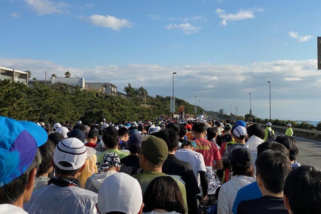 湘南国際マラソンスタート地点