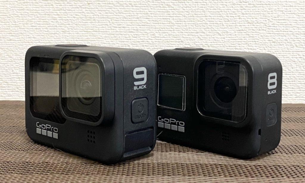 GoPro HERO8とHERO9のサイズ比較